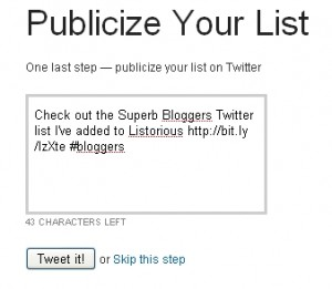 publicize your list