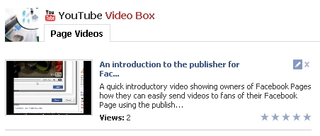 display imported video via youtube video box Get More Facebook Fan#6