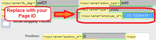 replace the input name with your own page ID