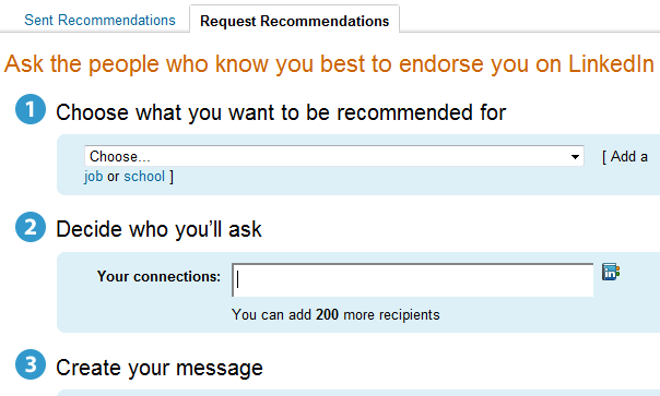 request linkedin recommendations from your contacts