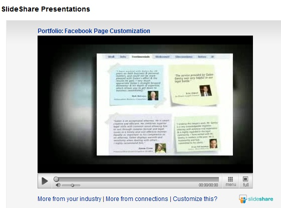 upload video to linkedin profile with slideshare