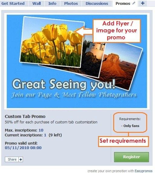 Easypromos for your facebook page