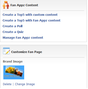 FanAppz for facebook page