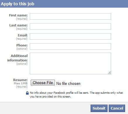 fans can apply for job and attach a CV