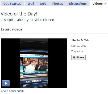 ffwd Videos to import uploaded video to your facebook page