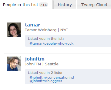 formulists to see who added you to their twitter lists