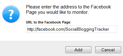 add facebook page alert by URL