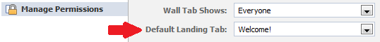 default landing tab stays in upgraded pages