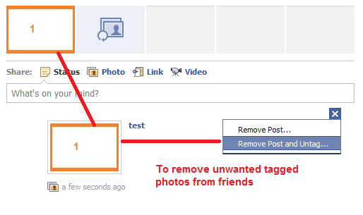 remove tagged photos from friends